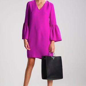 Banana Republic Bell-Sleeve Purple Magenta Dress
